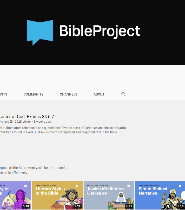 The Bible Project YouTube Channel Uses Animation to Teach the Bible