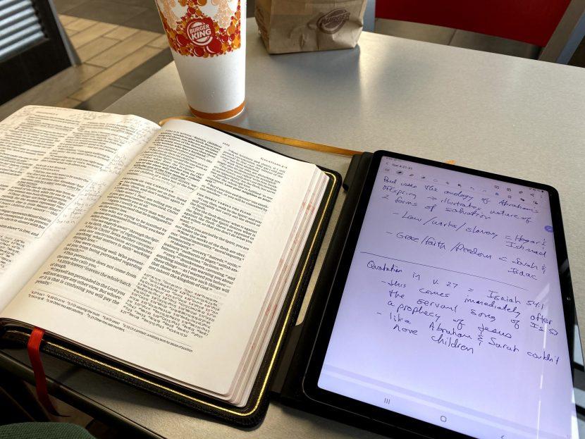 samsung galaxy tab s7 bible study