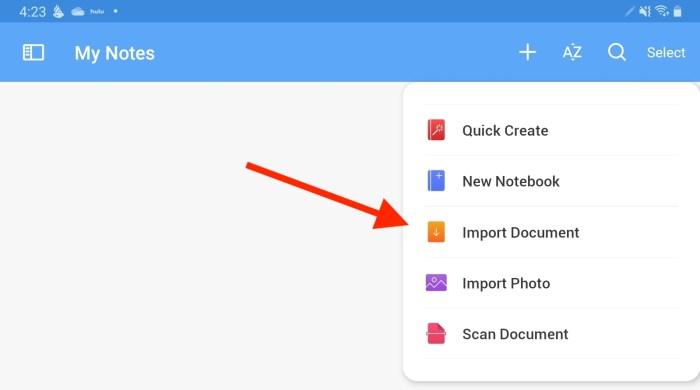 noteshelf importing pdf documents