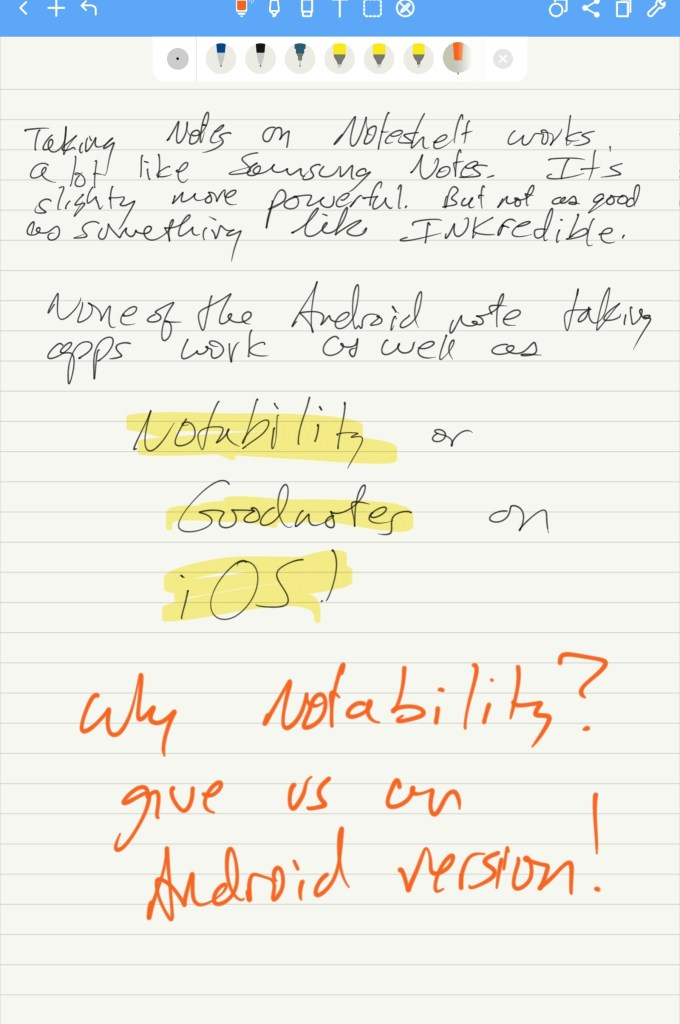 taking notes on samsung galaxy tab s7