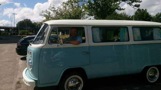 Post author in a campervan