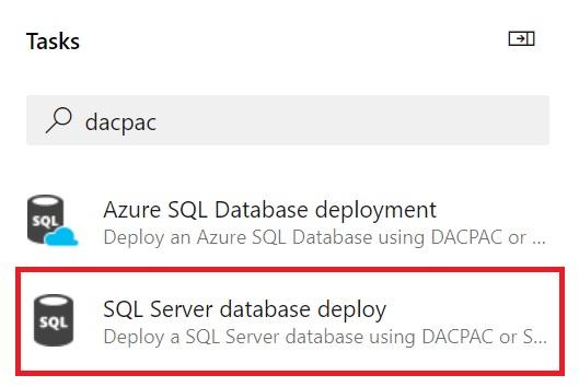 SQL Server database deploy task in Azure DevOps so that you can test SQL Server deployments locally