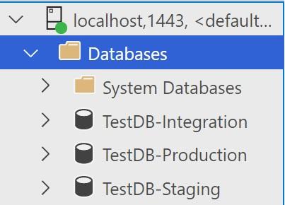Multiple databases in one SQL Server instance to test Azure DevOps deployments locally
