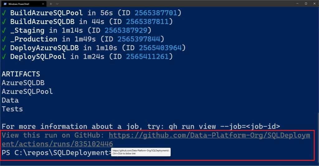 Using GitHub CLI with GitHub Actions for Data Platform deployments