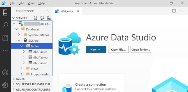Dedicated SQL Pool in Azure Data Studio