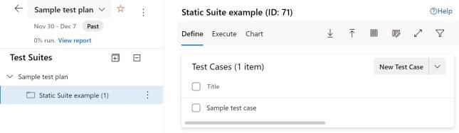 Static test case
