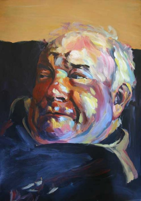 prize-winning acrylic portrait painting