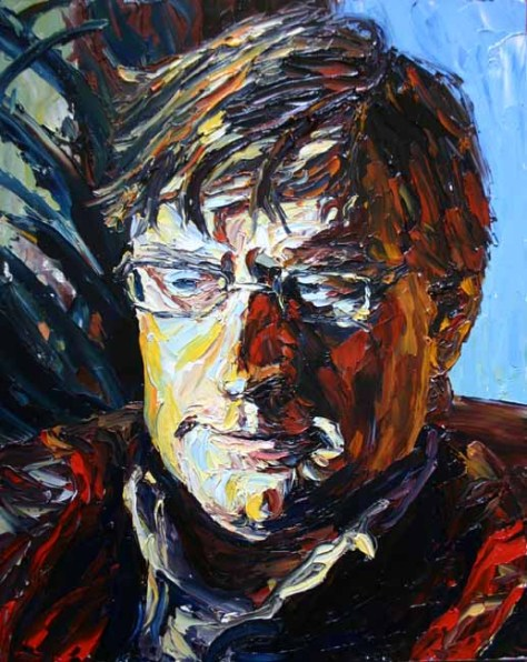 colourful palette knife portrait painting