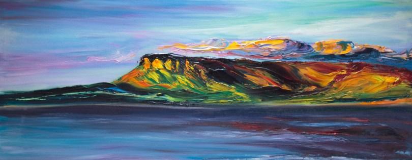 landscape oil painting of Ben Bulben mountain in Ireland