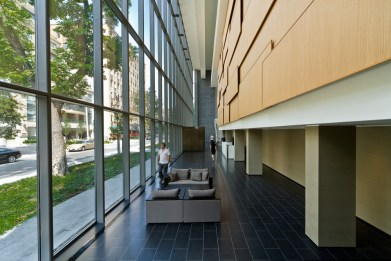 Architects Alliance condominium lobby photographed by Kevin Thom