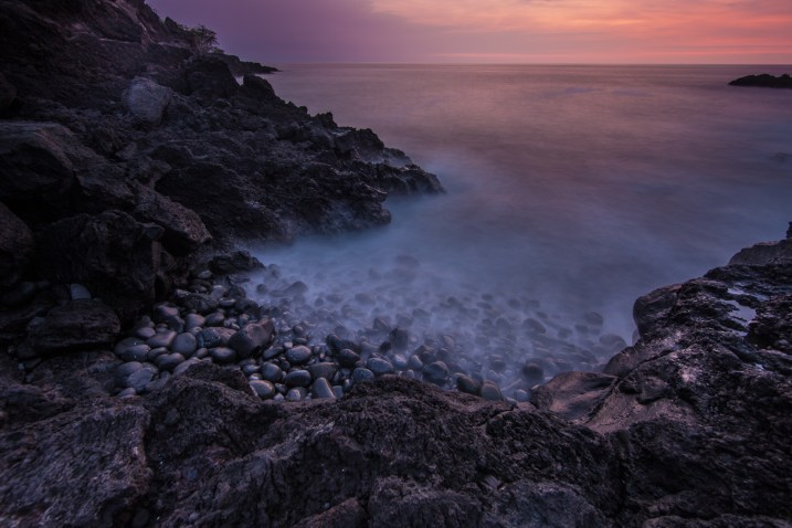 Maihi Bay after sunset.