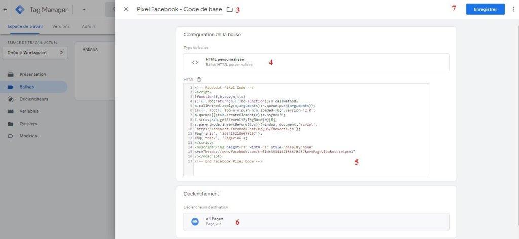 Installation manuelle du pixel Facebook grâce à GTM