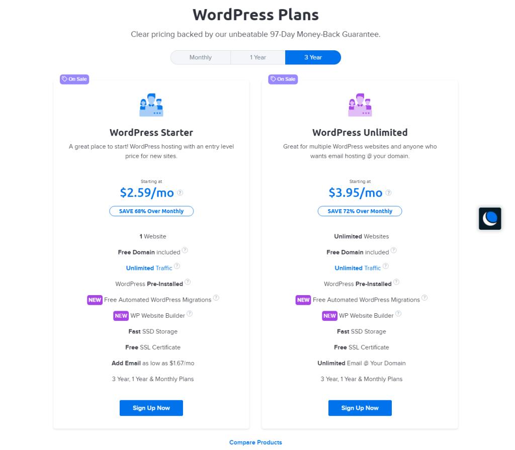 plans hebergement wordpress dreamhost 1