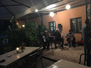 Jazz swing trio reception Tuscany
