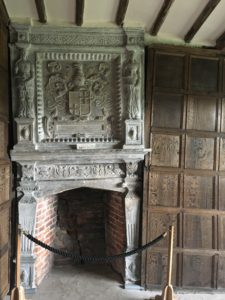 Little Moreton Hall Long Gallery fireplace