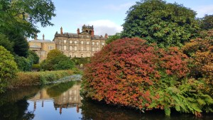 Biddulph Grange lake autumn house