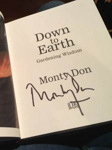 Monty Don Down To Earth signed book