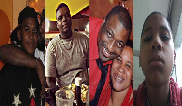 Trayvon Martin, Michael Brown, Eric Garner, and Tamir Rice