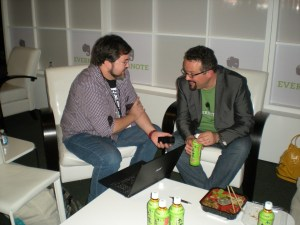 Juan J. Velasco y Phil Libin CEO de Evernote en la Evernote Trunk Conference 2012 en San Francisco