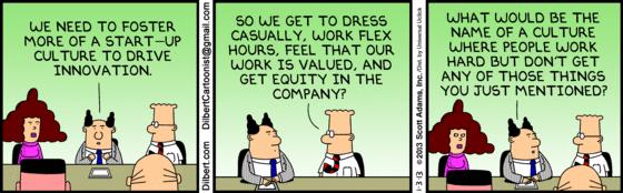 dilbert y startups