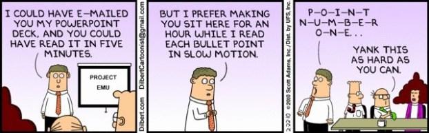 elevator pitch dilbert - cómo hacer un buen pitch