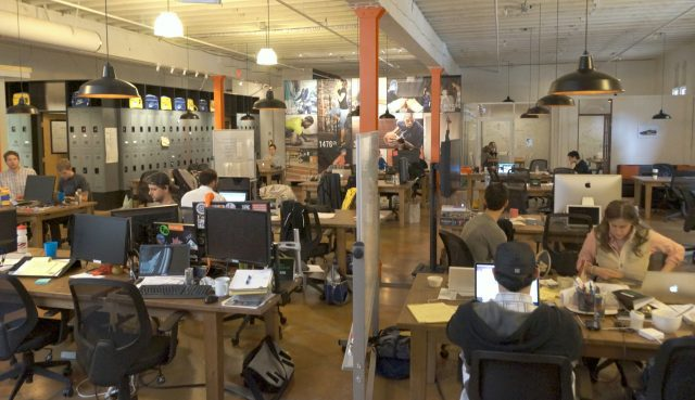 aceleradora de startups - espacio de trabajo