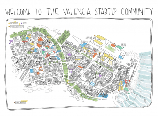 ecosistema de startups de Valencia mapa