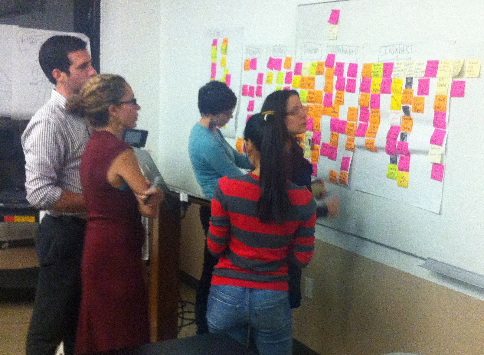 design thinking post-its