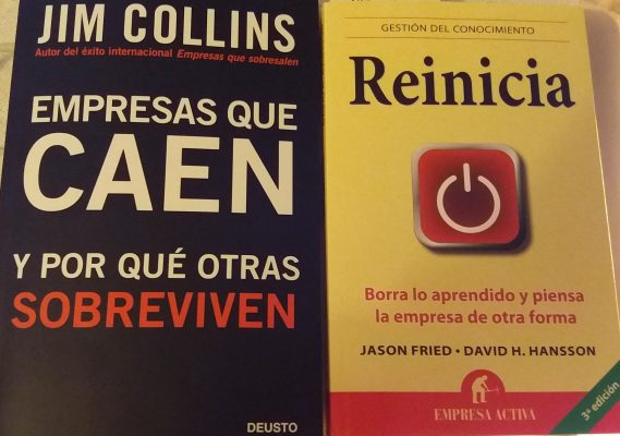 Empresas que caen y Reinicia - libros recomendados sobre startups