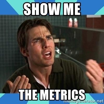 Show me the metrics! así se llamó la sesión en BUND (parafraseando a Tom Cruise en Jerry Maguire) - métricas