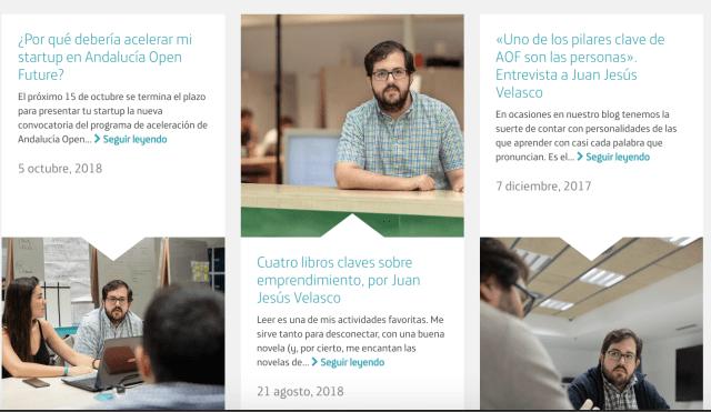 Colaboraciones de Juan Jesús Velasco con el blog de Andalucía Open Future