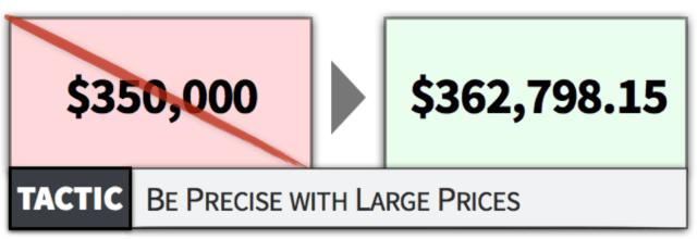 Precisión frente a redondeo psicología de los precios
