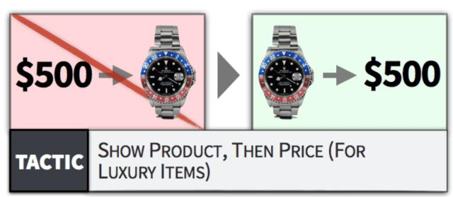 primero producto y luego precio
