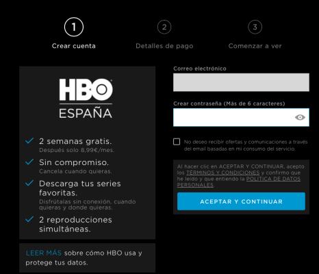 HBO prueba gratuita suscripción