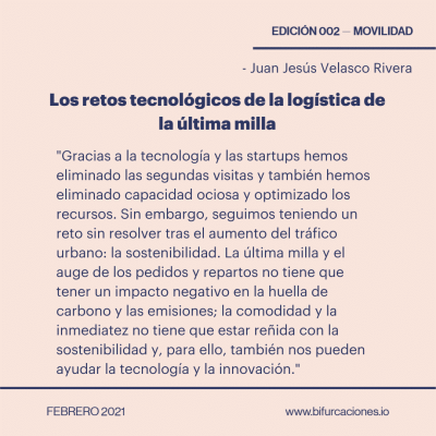 Juan Jesús Velasco Bifurcaciones 02 logística de última milla