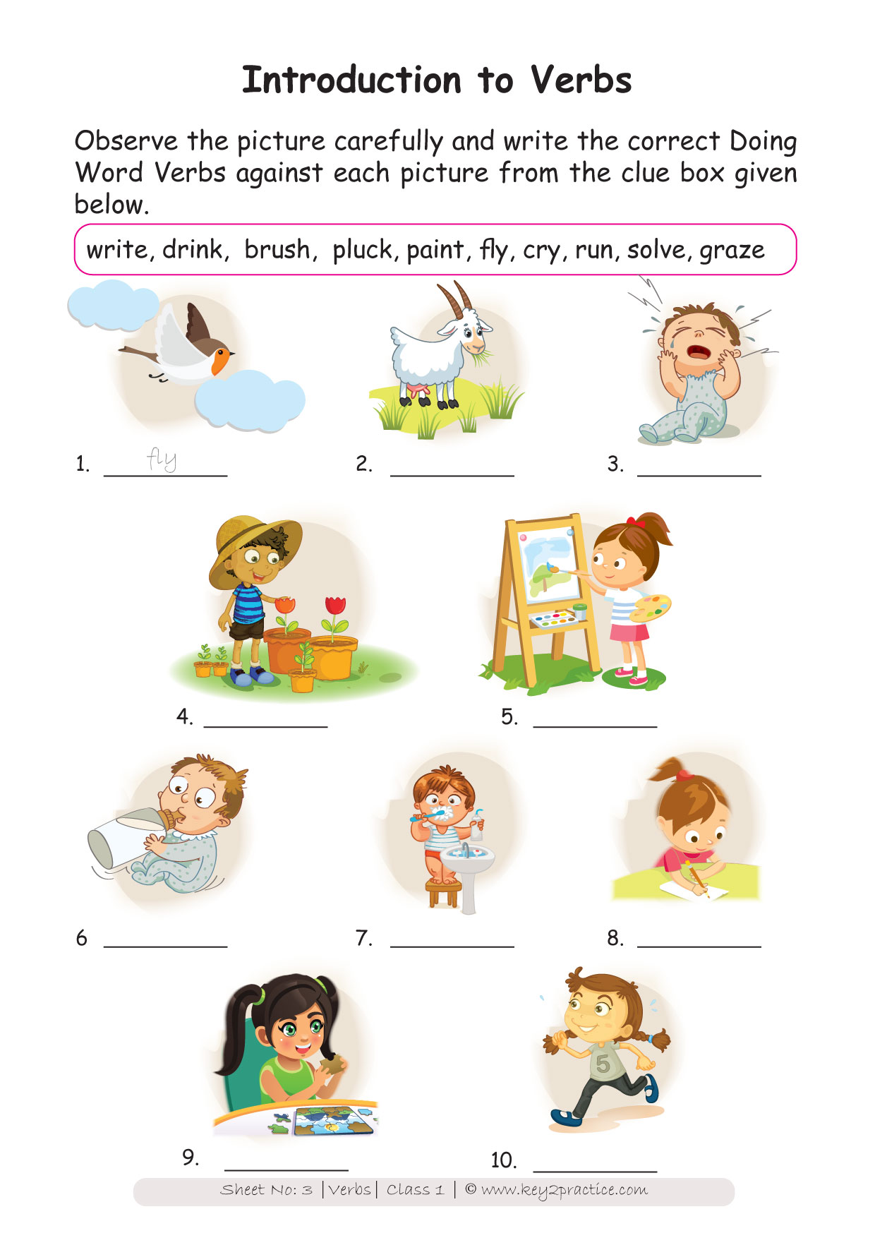 Easy Worksheets Grade 1 English Workbook