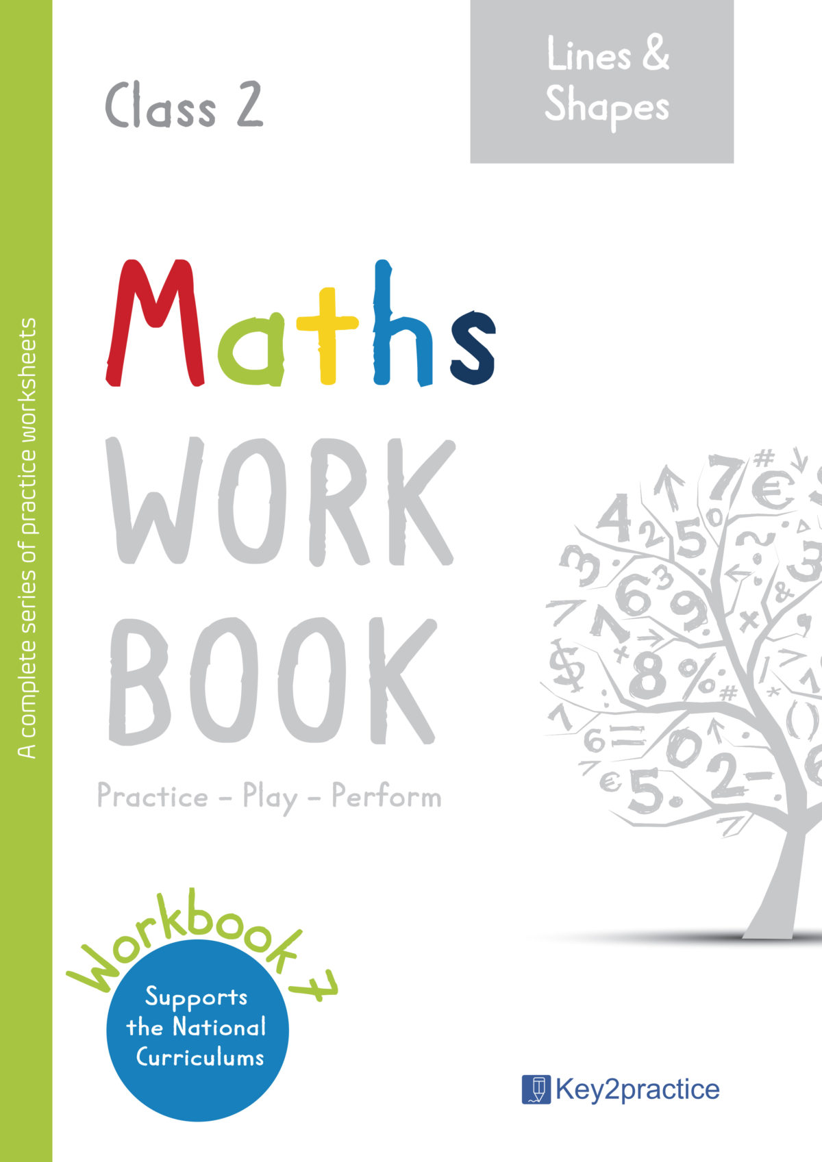 Maths Worksheets Grade 2 Workbook On Lines And Shapes