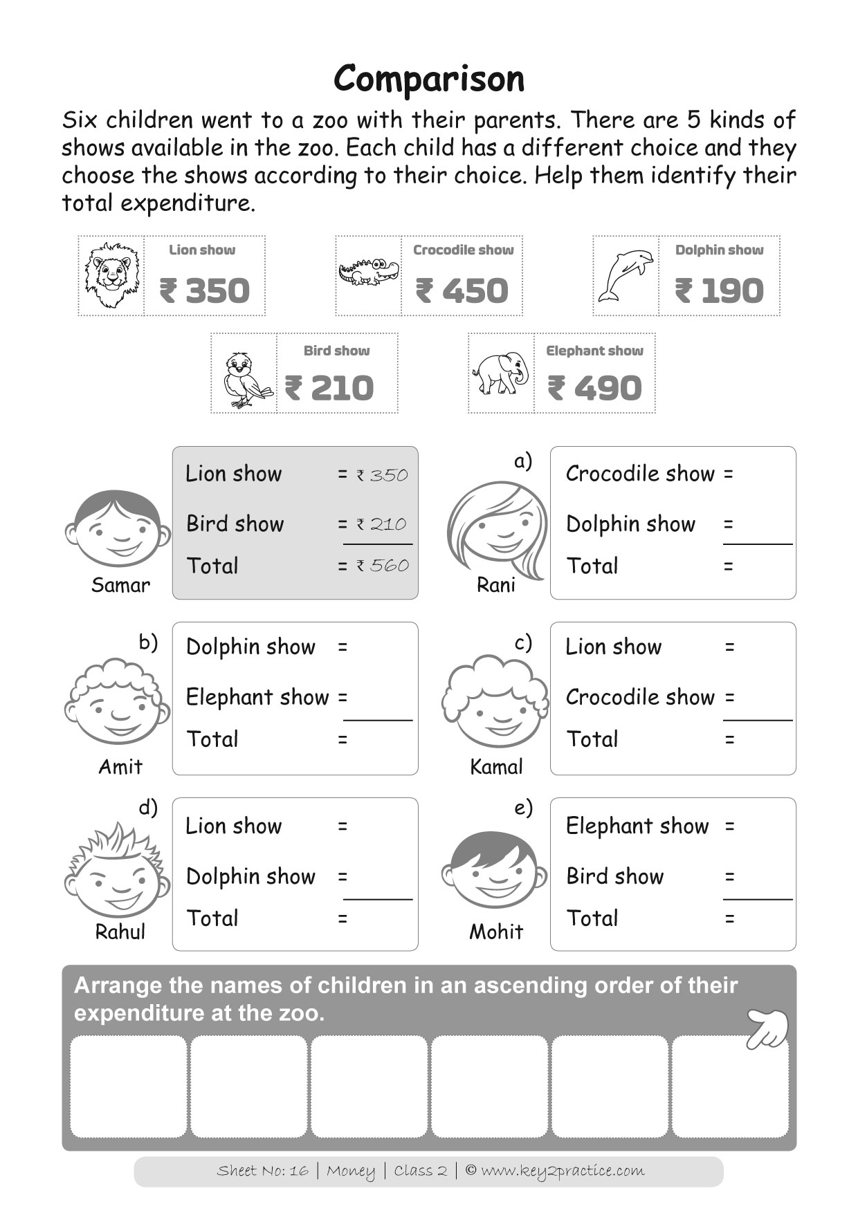 Money Worksheets Grade 2 I Maths