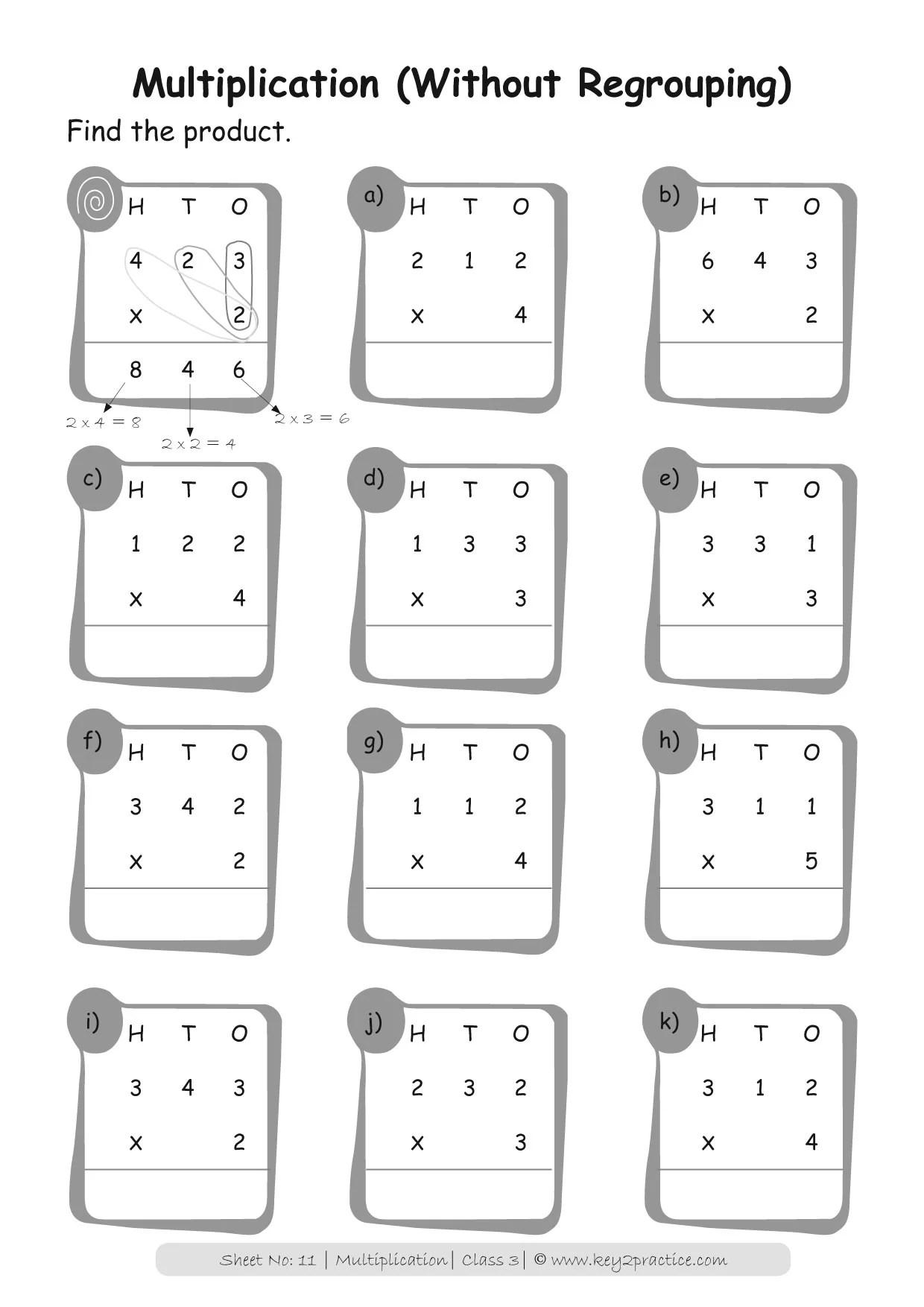 Multiplication Worksheets Grade 3 I Maths