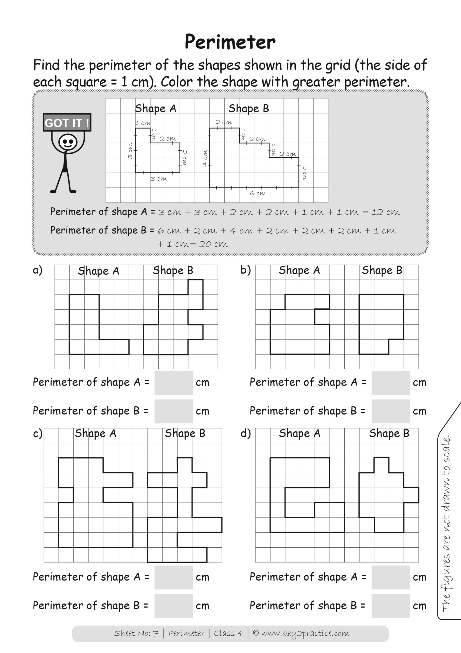 Maths Worksheets Grade 4 Perimeter