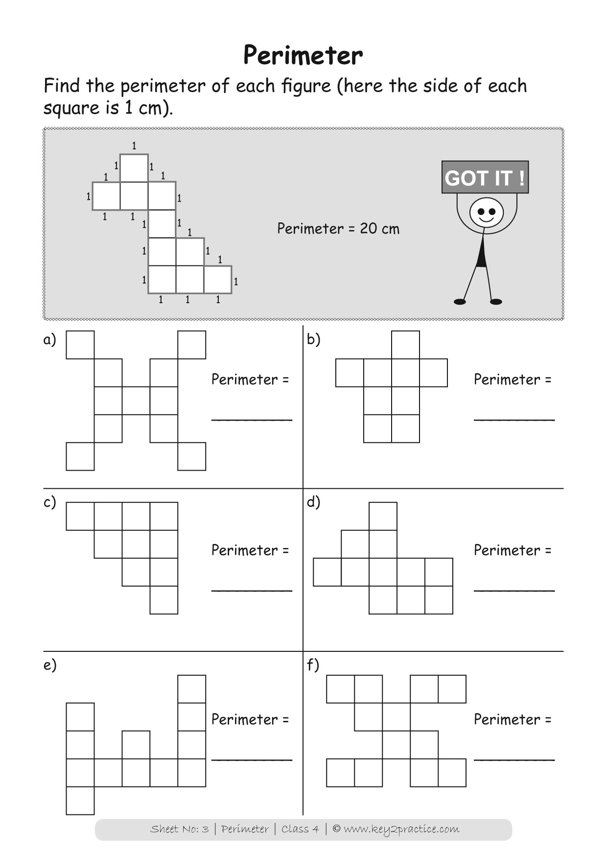 Maths Worksheets Grade 4 Perimeter