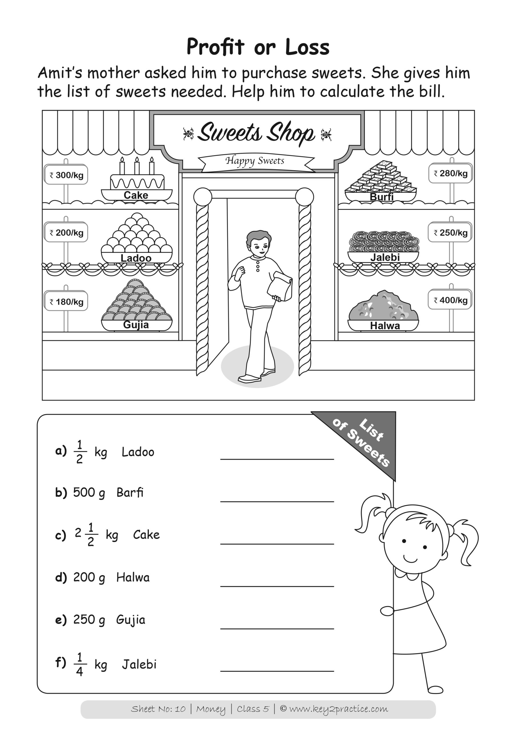 Maths Worksheets Grade 5 Chapter Money