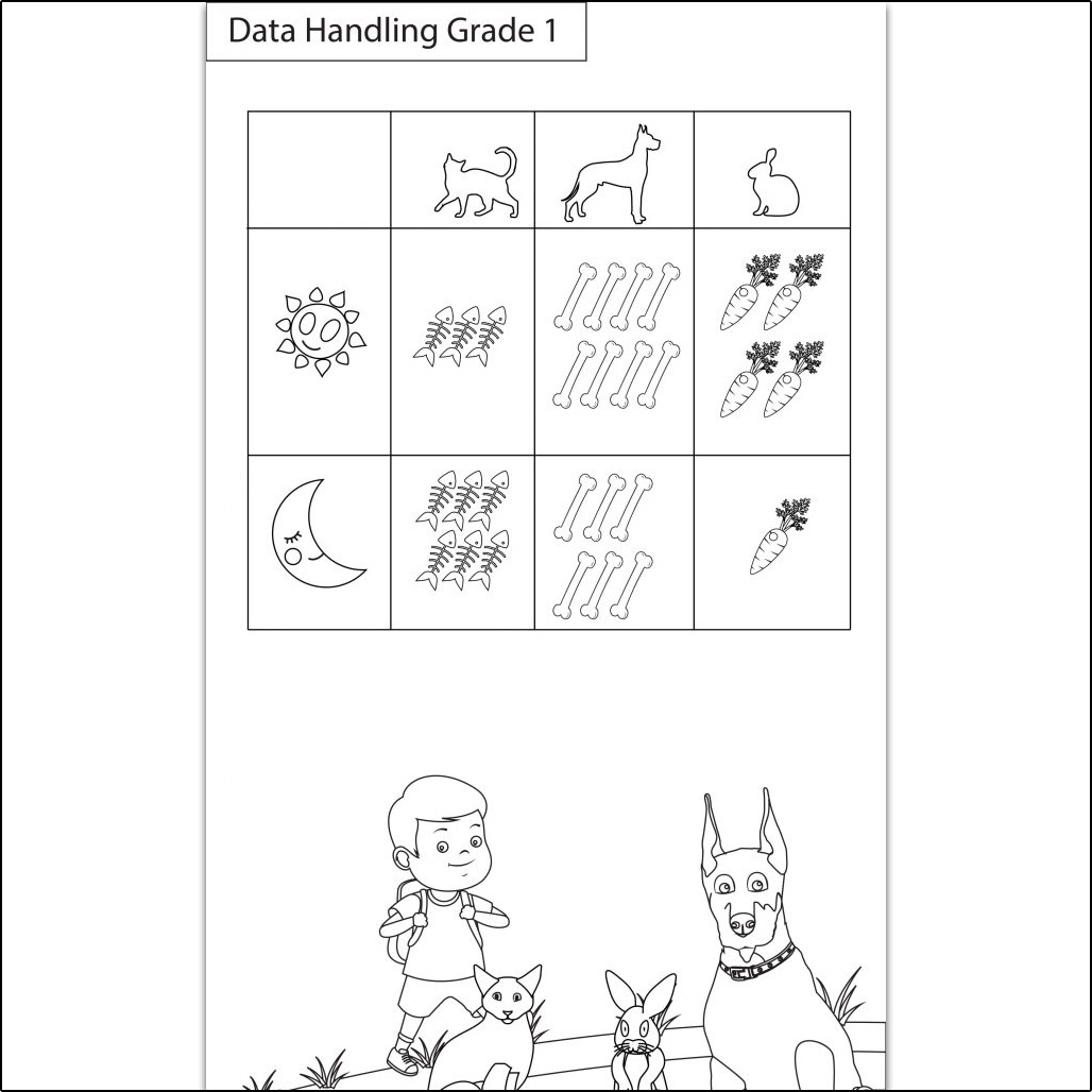 Maths Worksheets Class 1 I Data Handling