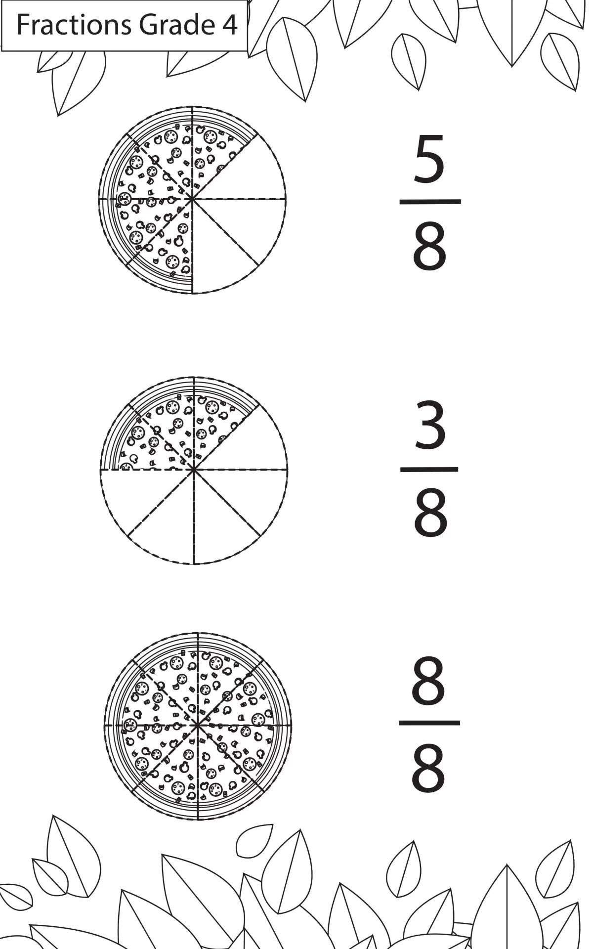 Maths Worksheets Grade 4 Fractions
