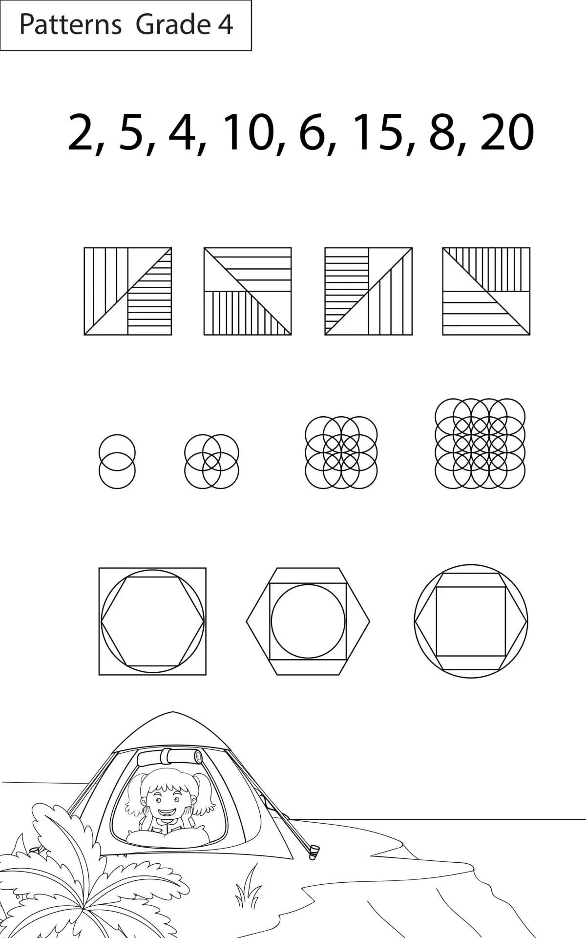 Maths Worksheets Grade 4 Patterns