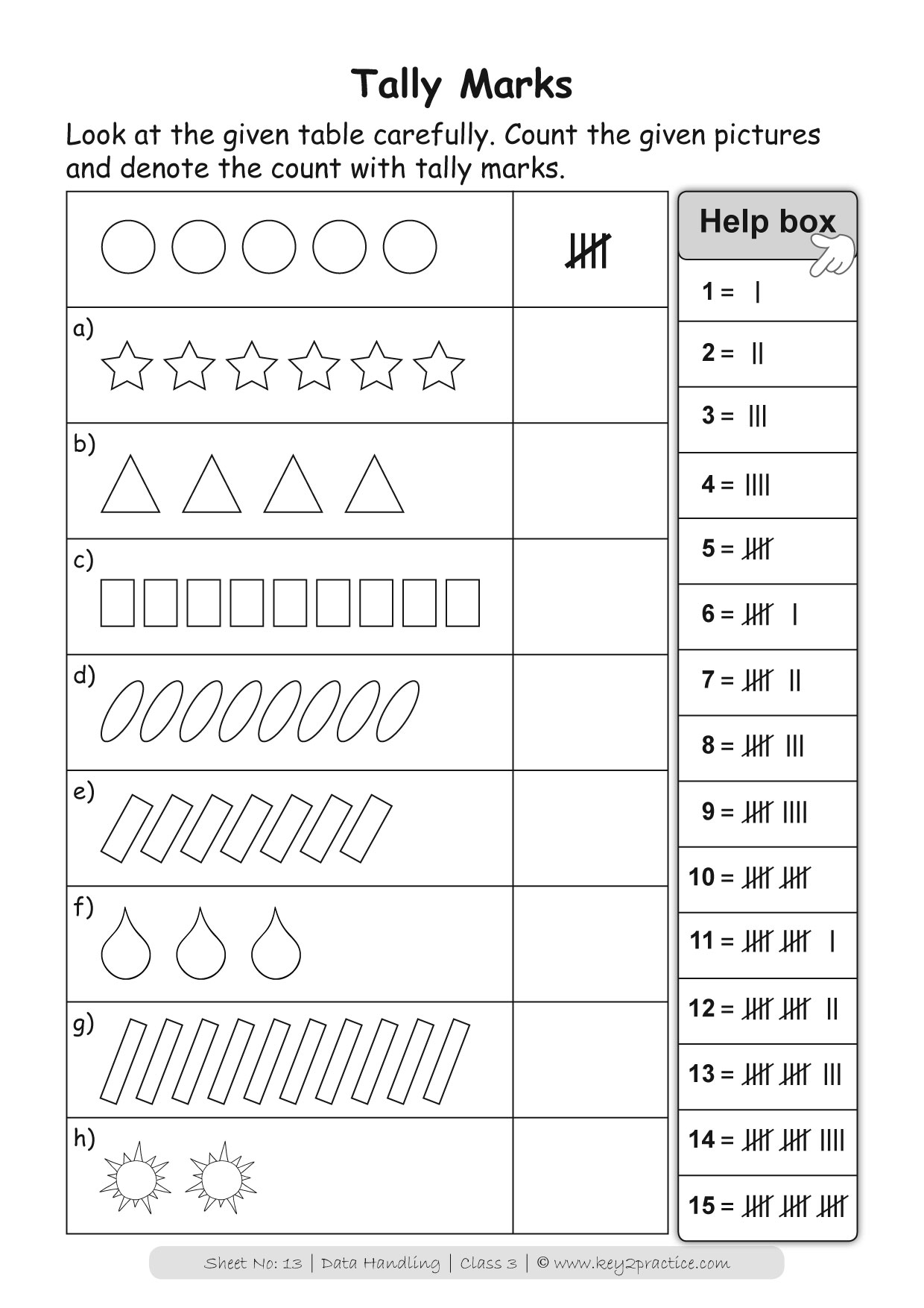 Maths Worksheets Grade 3 Data Handling