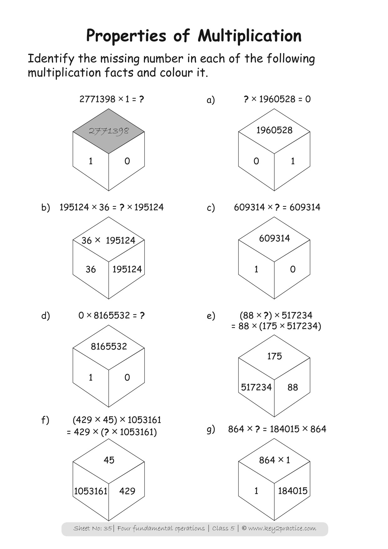 Maths Worksheets Grade 5 Four Fundamental Operations