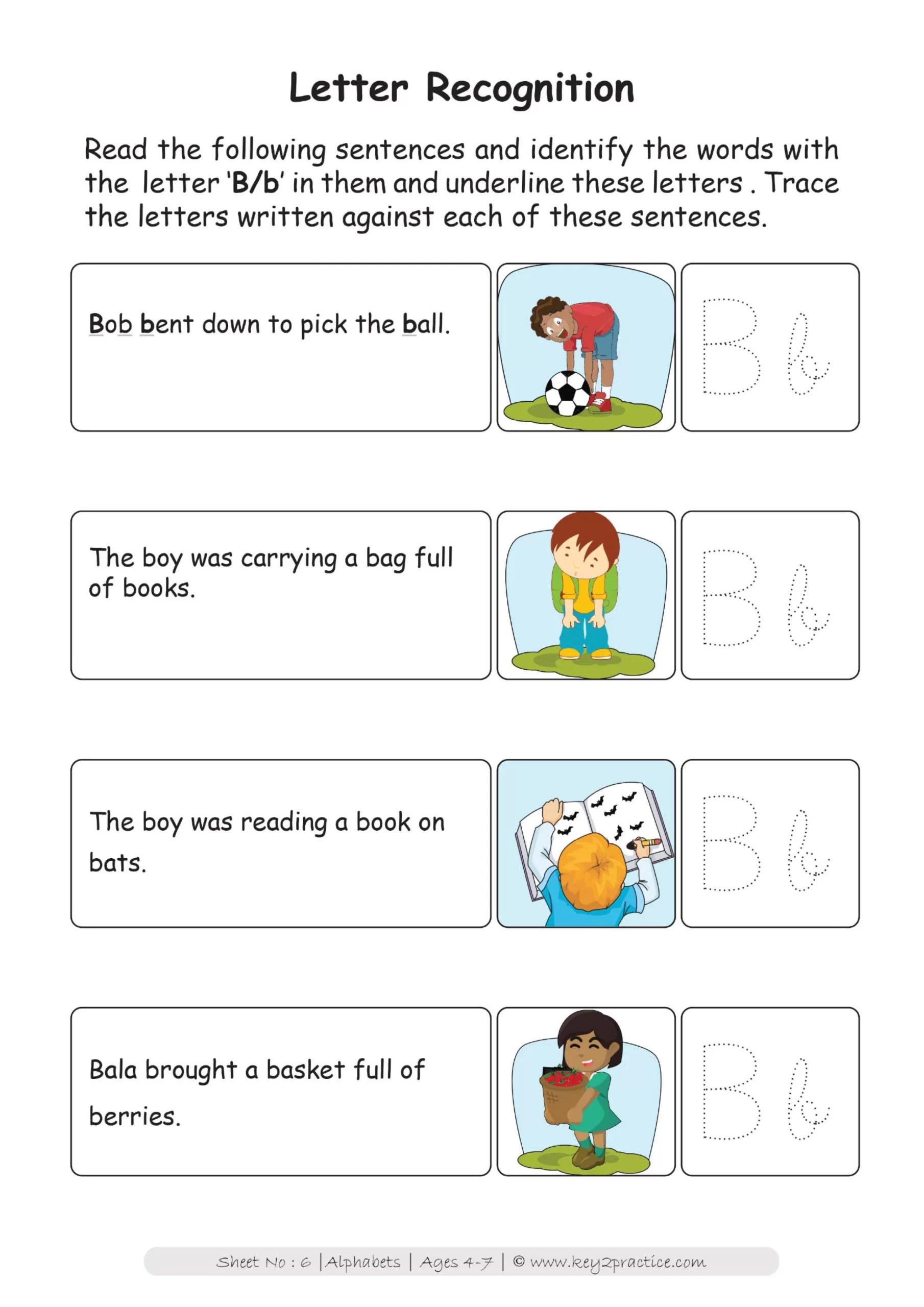 English Worksheets On Alphabet For Grade 1