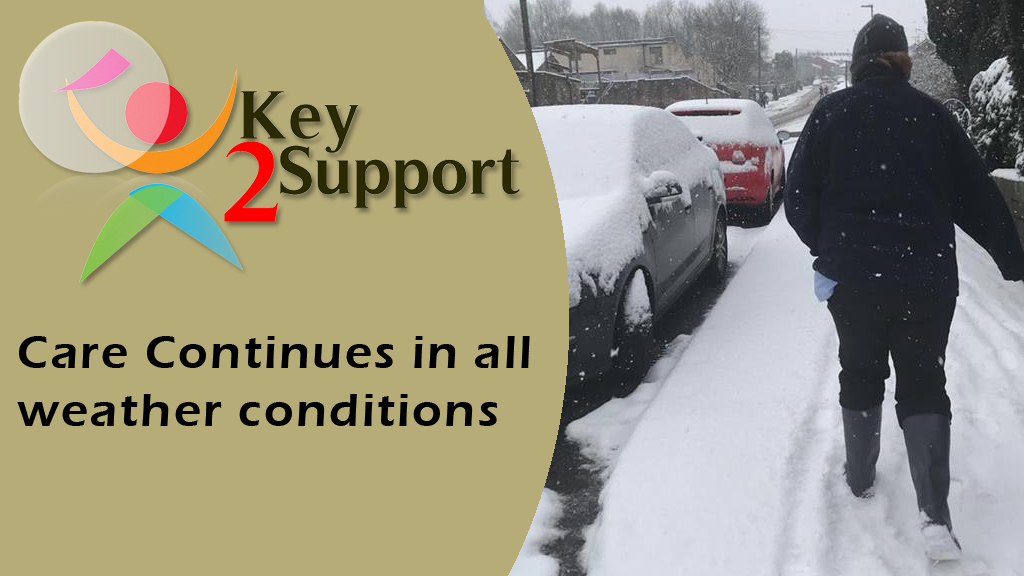 Key2support care continues in all weather