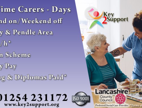 Support Worker job burnley days